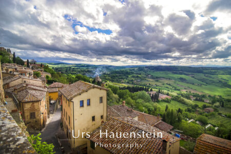 Tuscany Italy Landscape Stock Photo